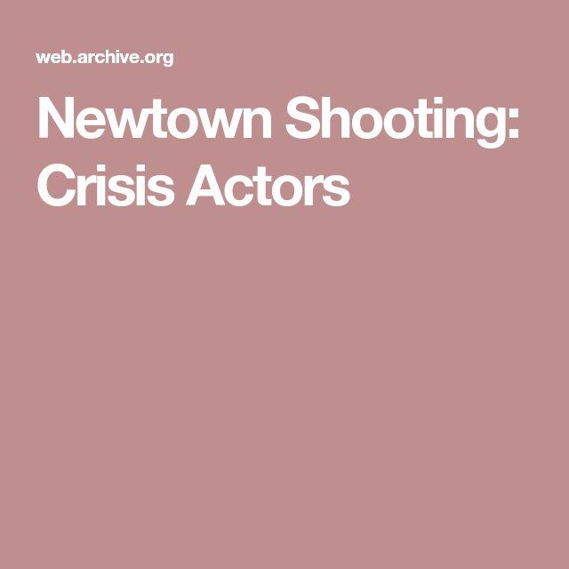 Newtown Shooting: Crisis Actors