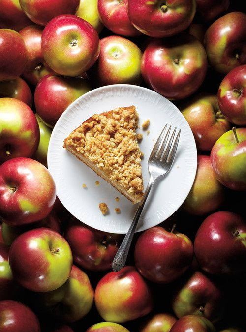 Gâteau «crumble» aux pommes Recettes   Ricardo