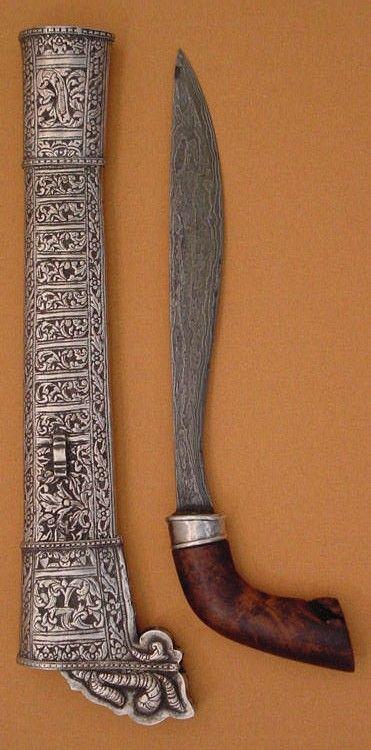 Badik; traditional dagger Bugis tribe, South Sulawesi, Indonesia