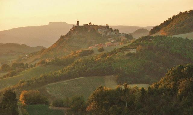 Peglio, Northern Le Marche (Sasso Simone Mountain in the distance)