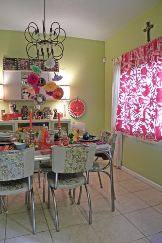 Day of the Dead Kitchen. Dia de los muertas. Dallas, TX: Melissa & Guillermo - contemporary - dining room - dallas - Sarah Greenman