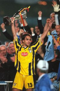 Alessandro Nesta (SS Lazio, 1993–2002, 193 apps, 1 goal) holds UEFA Cup Winners' Cup during the 1998/1999 season. At the pinnacle of Lazio's recent years Nesta guided them to a Scudetto in 1999/2000 under the reign of Sven Goran Erikson. Lazio sadly were forced to sell Nesta due to financial reasons on deadline day in 2002/2003 to AC Milan.