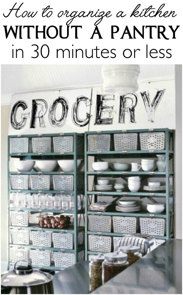 lots of solutions for how to organize a kitchen without a pantry in 30 minutes - Organizing Kitchen Ideas