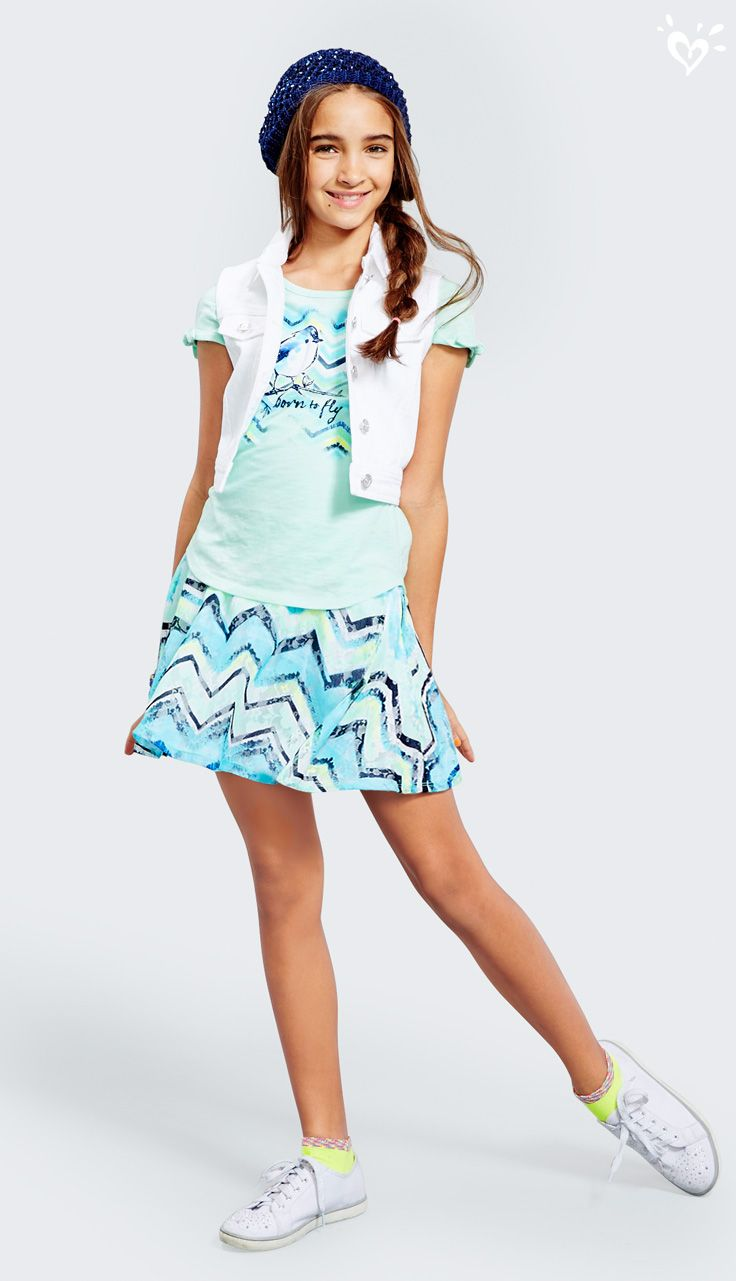 Your every-day-of-summer uniform: twirl ready skirts and made-to-match tops. Add sneakers for a causal-cool look!