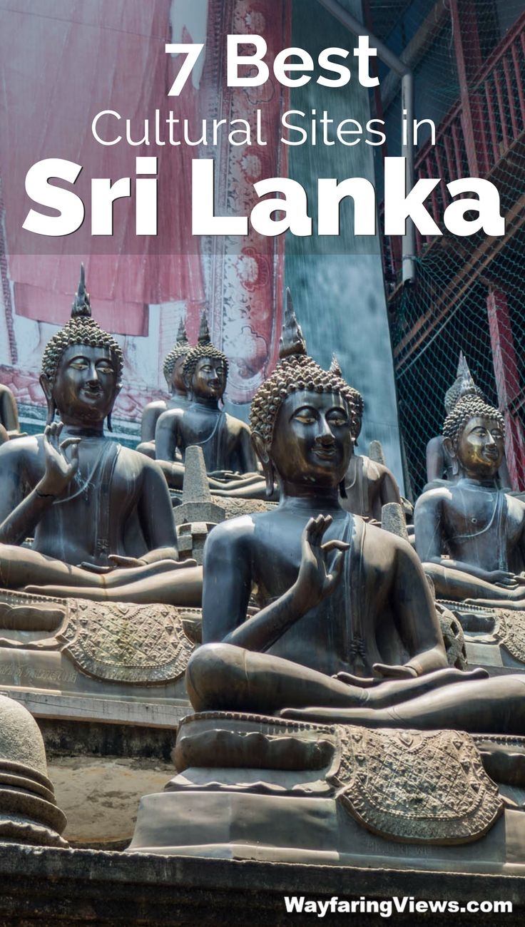Don't miss these top 7 cultural and historical sites in Sri Lanka. Things to do include, Golden Triangle, Dambulla Caves, Polonnaruwa, Galle, Kandy Temples, Sigiriya and UNESCO world heritage sites. | Sri Lanka itinerary | Sri Lanka Travel |
