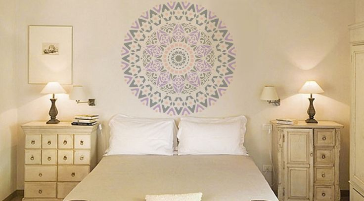 Stencil roset n mandala para decorar paredes y muebles de for Muebles para decorar