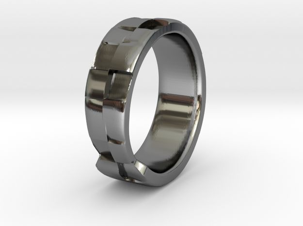 Square Textured & Tapered Ring by Fluid_Designer
