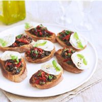 Black Olive Tapenade and Goat's Cheese Croustades