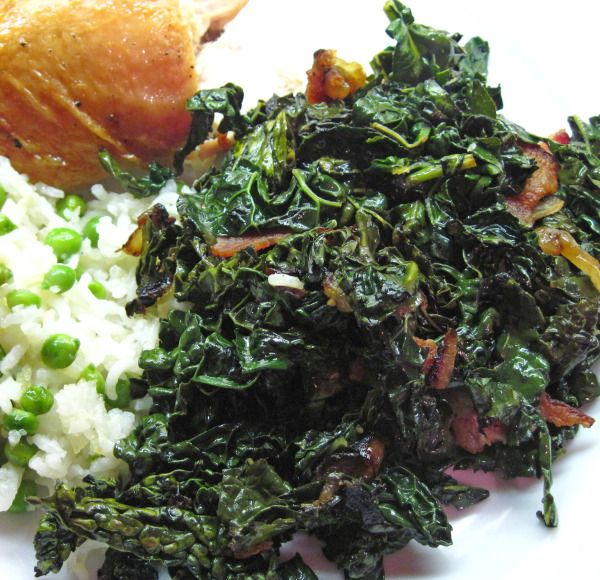 Braised Kale with Bacon is quick and fabulous!
