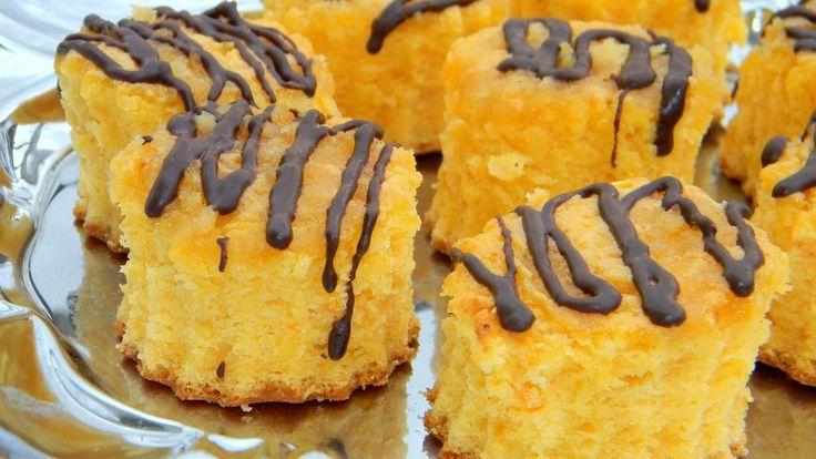 Marcipános-narancsos sütemény csokival