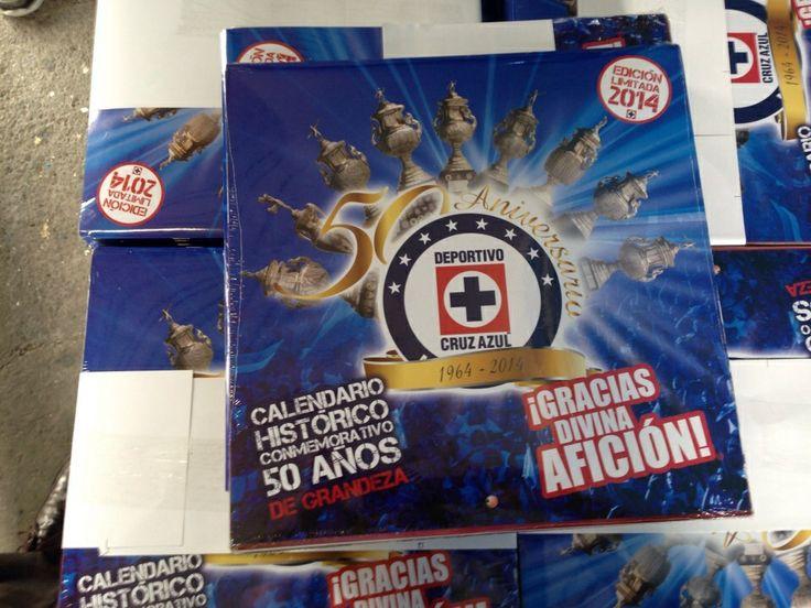 Calendario oficial Cruz Azul 50 aniversario @cruz_azul_fc #cruzazul50