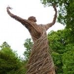 A Swirling Willow Figure Rises from the Grounds of Shambellie House in Scotland, artist Trevor Leat