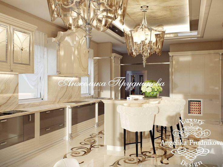 Дизайн интерьера кухни в стиле Ар Деко на вилле в Испании - фото