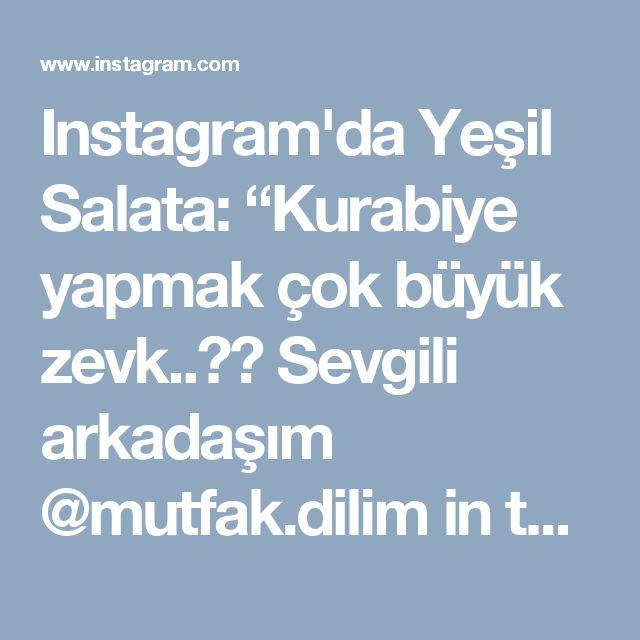 """Instagram'da Yeşil Salata: """"Kurabiye yapmak çok büyük zevk..👌👌 Sevgili arkadaşım  @mutfak.dilim in tarifi ile bu nefis """"çikolata güzellerini"""" iyiki yapmışım 😋😋😋 Çok…"""""""