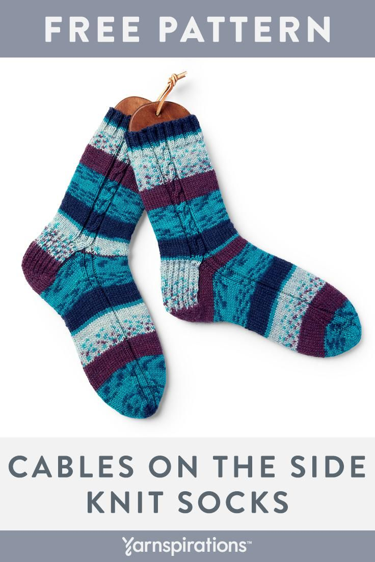 Free Intermediate Knit Socks Pattern Worked From The Top Down On