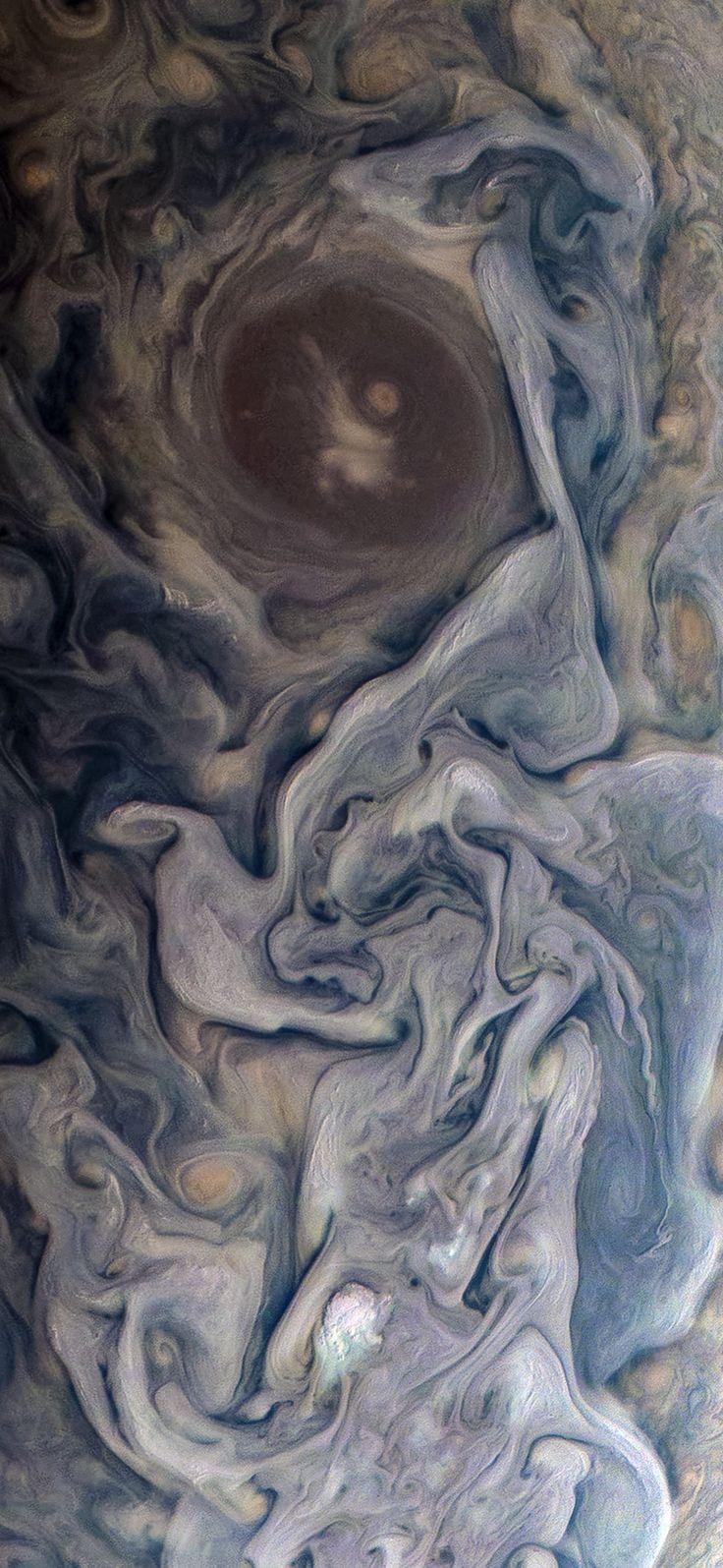 Dramatic Jupiter Taken By Nasa S Juno Spacecraft Iphone X
