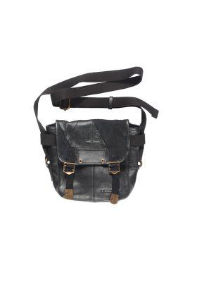 ELVIS TINY ARLEQUIN noir #patchwork cuir&denim recylcé #rockmafia