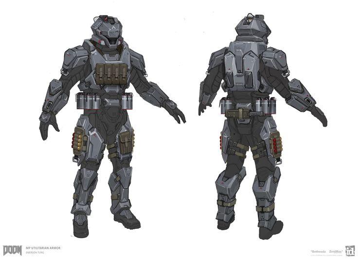 ArtStation - DOOM - MP Utilitarian Armor Sets, Emerson Tung