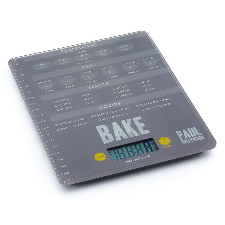 It's important to accurately measure out your ingredients, after all a few grams of flour or sugar could be the difference between disaster and success! Paul Hollywood has created these digital kitchen scales to help home bakers weigh ingredients with absolute precision.