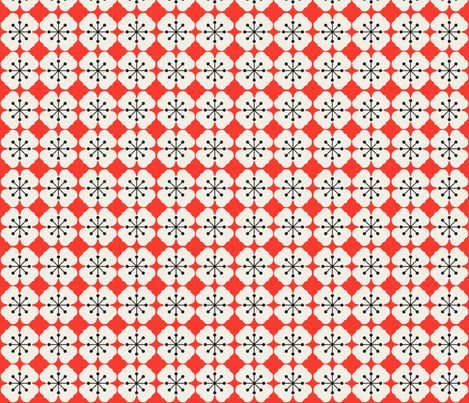 farmhouse_flowerbed_red fabric by holli_zollinger on Spoonflower - custom fabric