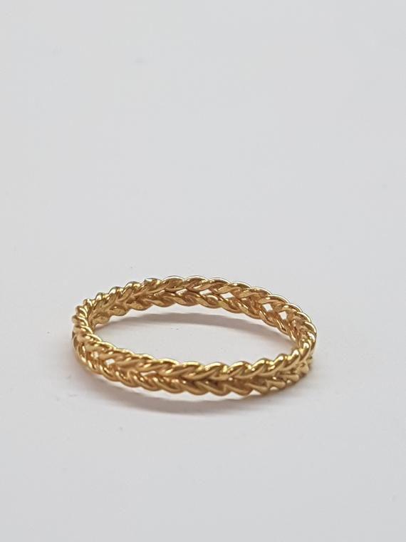 Wedding Band Women Braid Wedding Ring Women Twisted Wedding Ring