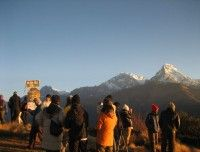 Morning View from Poon Hill http://www.nepalmotherhousetreks.com/abc-trekking-through-poon-hill.html