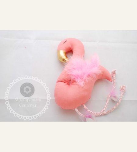 Μπομπονιέρα βάπτισης φλαμίνγκο υφασμάτινο , χειροποίητο #Flamingo , #φλαμίνγκο, #mpomponiera