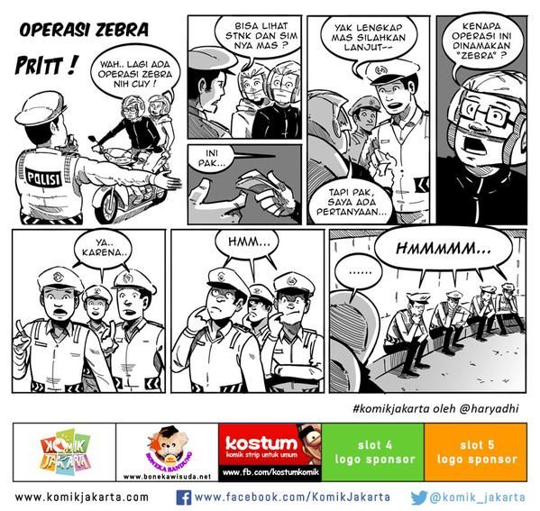 Operasi Zebra by @haryadhi #KomikJakarta @mice_cartoon