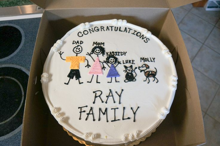 "Our families ""gotcha-day"" / adoption cake for our adoption party!"