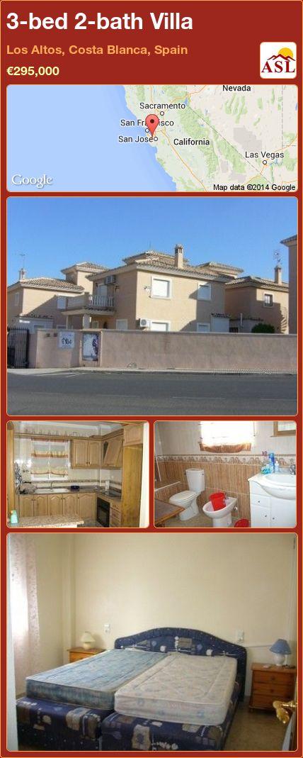 3-bed 2-bath Villa in Los Altos, Costa Blanca, Spain ►€295,000 #PropertyForSaleInSpain