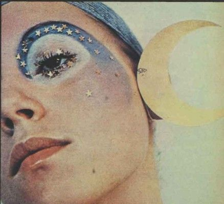 The Seventies Face Make-up Finally – a galaxy with a difference – a real fun face guaranteed to stop traffic, heavenly and worldly. Good in 1971 perfect for festivals in 2016!