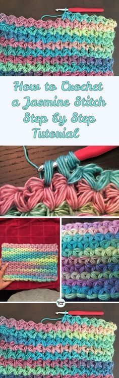 Jasmine Stitch – Step by Step Tutorial & Pattern