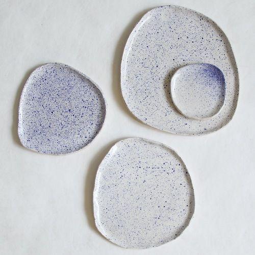 northmagneticpole:  Watercolour Splatter Dishes-Hazel Stark
