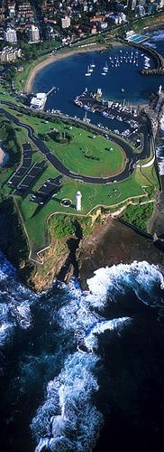aerial view, Wollongong University, Australia