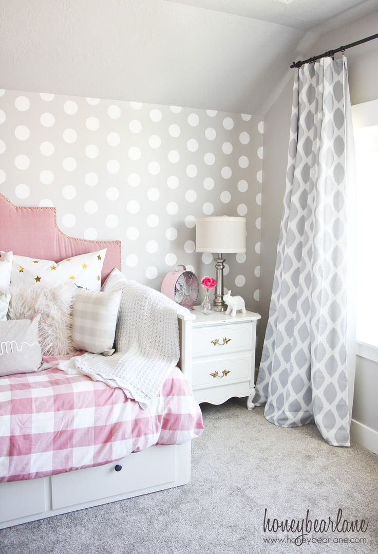 Girls Bedroom Paint Ideas Polka Dots 25+ best gray girls bedrooms ideas on pinterest | teen bedroom