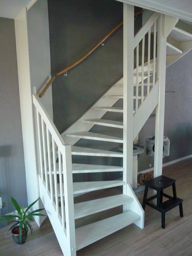 25 beste idee n over open trap op pinterest kelder trap trappen en keldertrap - Witte trap grijs ...