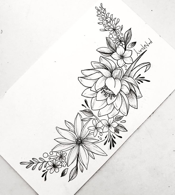 Small Flowers Line Drawing : Pin by jamie carreiro on tattoos ☠️ drawings ️ pinterest