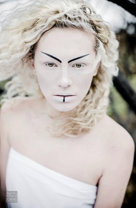 Model: Courtney Jones. Makeup: Me, Farhana Ali. Photography: Martin Ellard @ mybigdayphotos.co.uk  Love this icy, wintry snow queen style & unusual makeup look  #makeup #styling #FarhanaHennaMUA www.farhana.co.uk