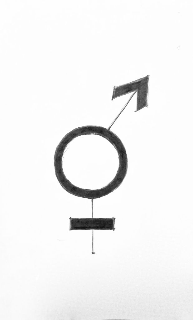 3.I try to work with two symbols which I put together and try to do a logo for both gender in one image