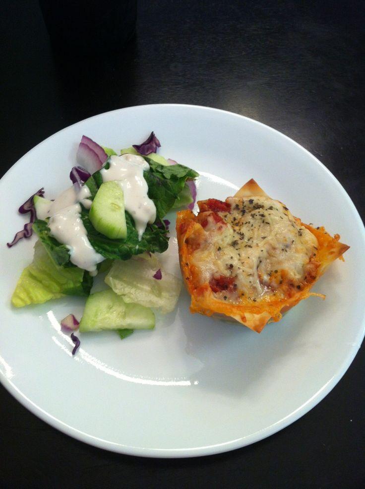 Life after having the Gastric Sleeve: 148 Calorie Lasagna Cupcakes   Opskrifter   Pinterest ...
