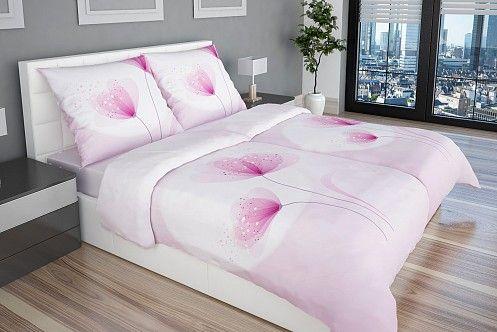 A Lalia luxus ágyneműhuzaton a rózsaszín hűvös tónusai és a ciklámen vannak hangsúlyban.