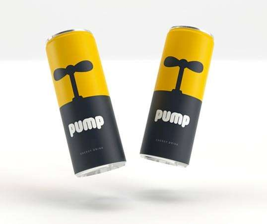 Pump Energy Drink Packaging is Given a Bold and Powerful Boost #energydrink #packaging trendhunter.com