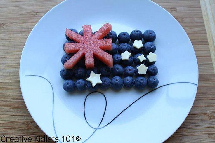 Australia Day treat with ver few calories.