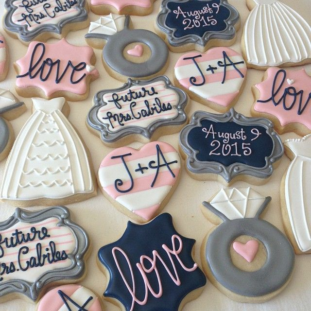 Bridal shower cookies #onecutecookie #decoratedcookies #sugarcookies #cookiesbyjodi #weddingcookies #bridalshowercookies