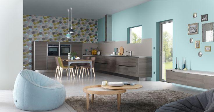 Cuisine Dialogue par Arthur Bonnet, une cuisine esthétique et fonctionnelle entièrement ouverte sur le salon