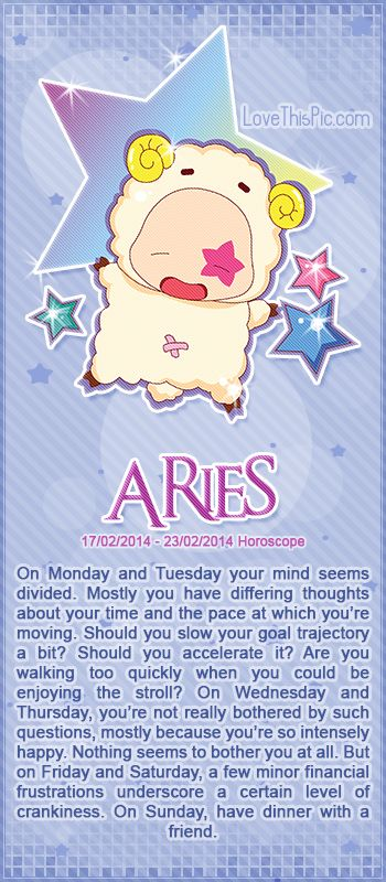 ARIES WEEKLY HOROSCOPE 2/17/14 - 2/23/14 astrology zodiac aries horoscopes horoscope weekly horoscope astrological forecast horoscope signs predictions
