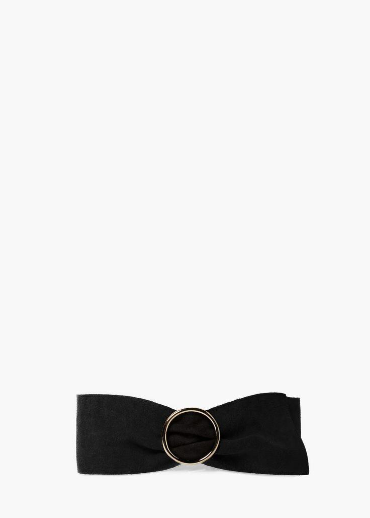 Wide leather belt - Belts for Women | MANGO