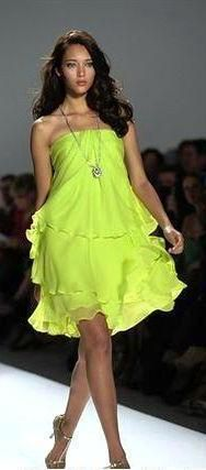 Lime green short dress