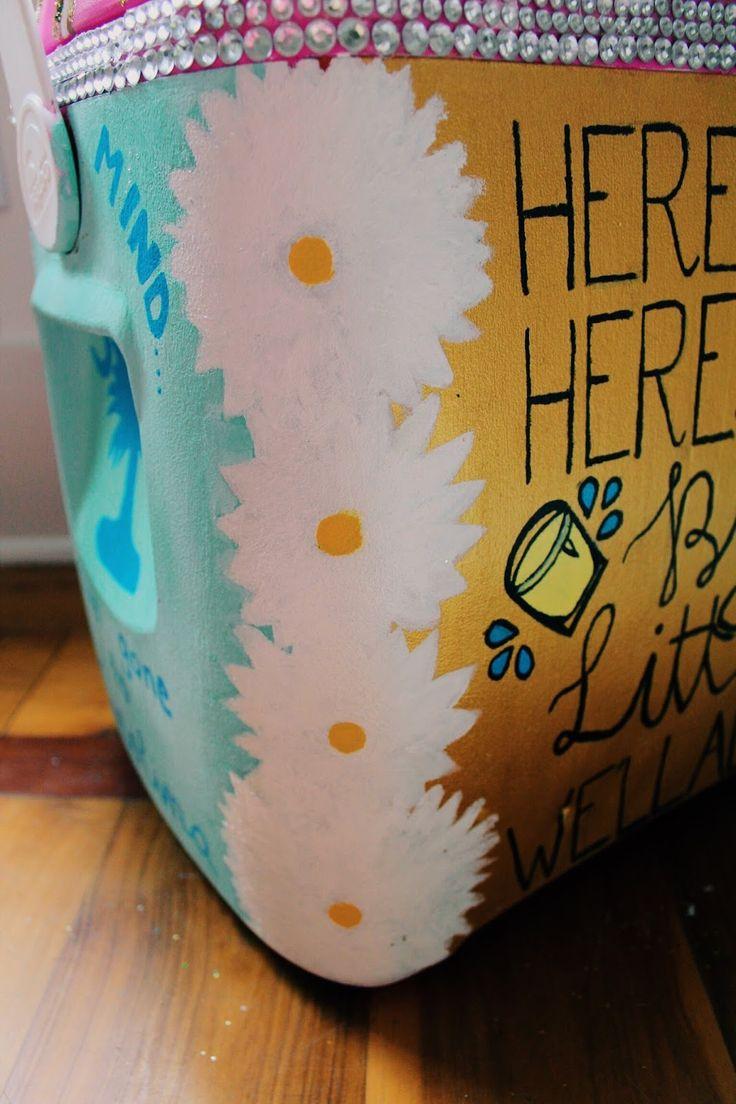 Big + Little Reveal Presents #sorority #Sigma Kappa #Big Little Reveal #college #cooler painting #cooler