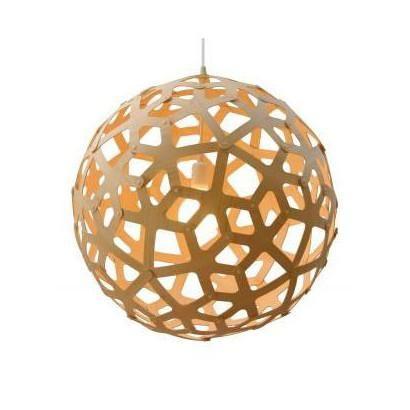 David Trubridge Natural Coral Bamboo Pendant Light